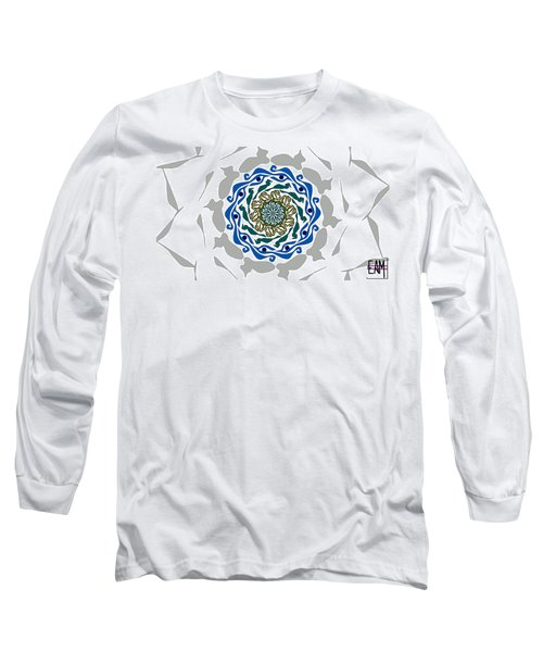 Long Sleeve T-Shirt featuring the digital art You're Mistaken. No One Is Watching You. by Elizabeth McTaggart