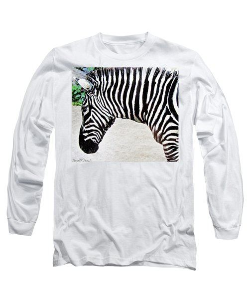 Zebra Alcohol Inks  Long Sleeve T-Shirt
