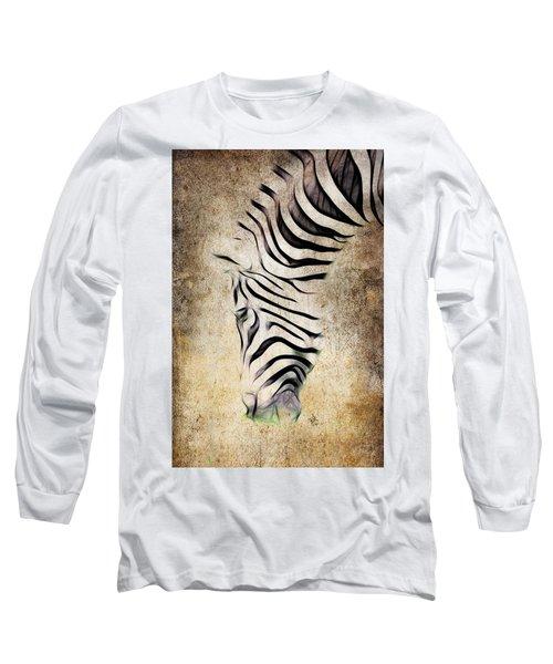 Zebra Fade Long Sleeve T-Shirt by Steve McKinzie