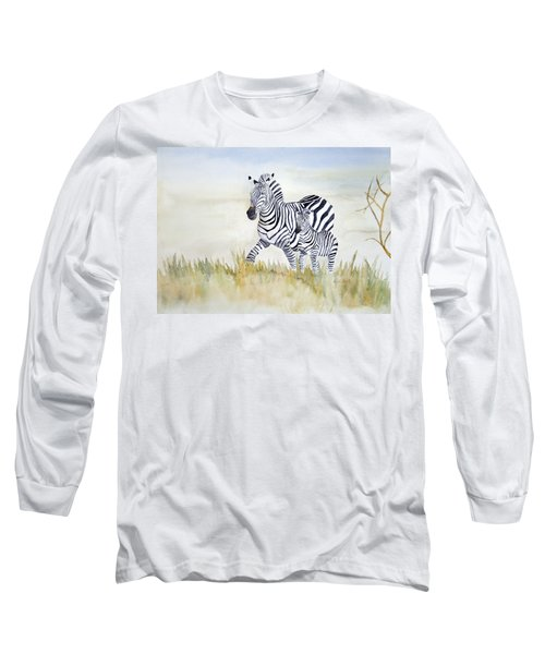 Zebra Family Long Sleeve T-Shirt
