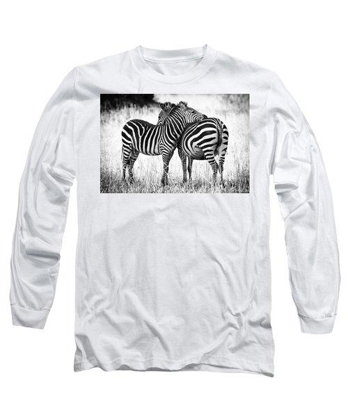 Zebra Love Long Sleeve T-Shirt by Adam Romanowicz