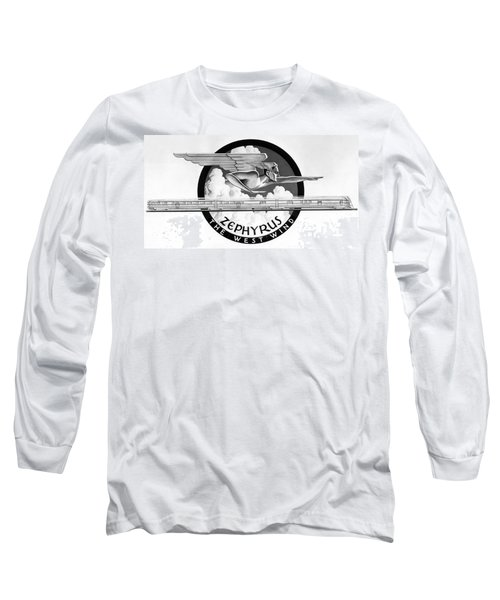 Zephyrus, The West Wind God Long Sleeve T-Shirt