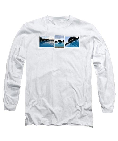 Amalfi Coast Pool Reflections Long Sleeve T-Shirt
