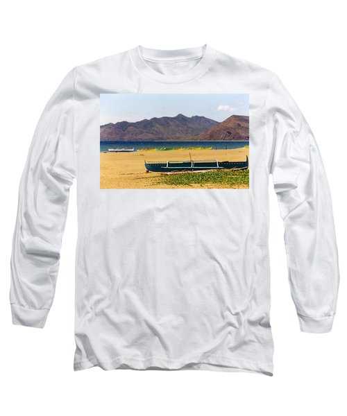 Boats On South China Sea Beach Long Sleeve T-Shirt