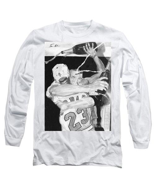 Bulls Celebration Long Sleeve T-Shirt by Tamir Barkan
