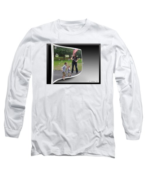 Long Sleeve T-Shirt featuring the photograph Chasing Bubbles by Brian Wallace