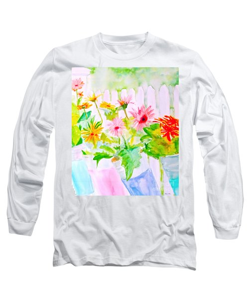 Daisy Daisy Long Sleeve T-Shirt by Beth Saffer