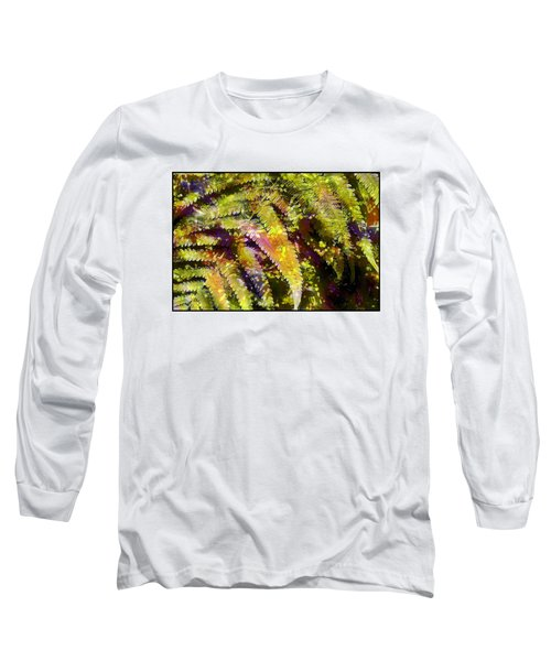 Fern In Dappled Light Long Sleeve T-Shirt by Judi Bagwell