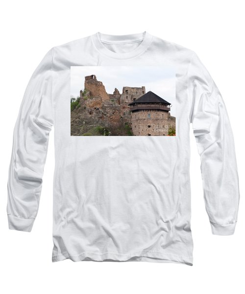 Long Sleeve T-Shirt featuring the photograph Filakovo Hrad - Castle by Les Palenik