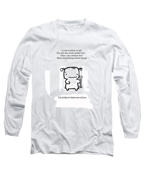 Long Sleeve T-Shirt featuring the drawing Most Useful Tool by Leanne Wilkes
