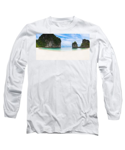 White Sandy Beach In Thailand Long Sleeve T-Shirt