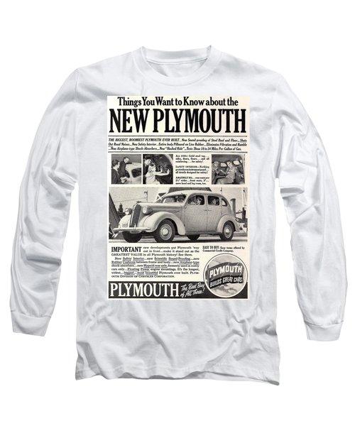 1937 Plymouth  Long Sleeve T-Shirt