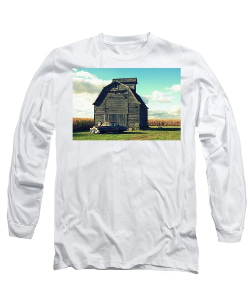 1950 Cadillac Barn Cornfield Long Sleeve T-Shirt