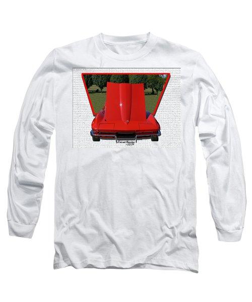 1965 Corvette Long Sleeve T-Shirt by EricaMaxine  Price