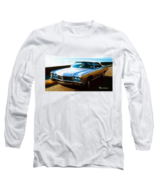 1971 Chevrolet Impala Convertible Long Sleeve T-Shirt by Sadie Reneau