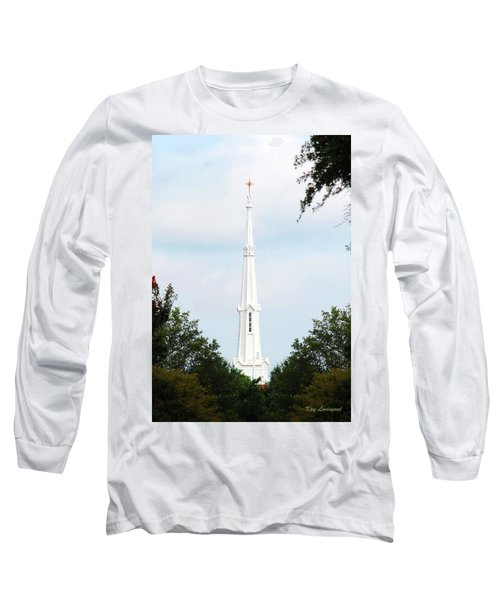 Long Sleeve T-Shirt featuring the photograph 1st Christian Steeple by Kay Lovingood