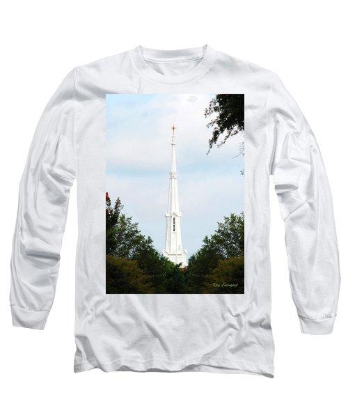 1st Christian Steeple Long Sleeve T-Shirt by Kay Lovingood