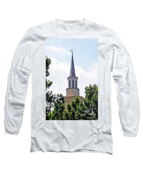 1st Presbyterian Steeple Long Sleeve T-Shirt by Kay Lovingood