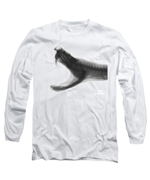 Eastern Diamondback Rattlesnake, X-ray Long Sleeve T-Shirt by Ted Kinsman