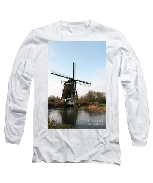 Long Sleeve T-Shirt featuring the digital art Windmill In Amsterdam by Carol Ailles