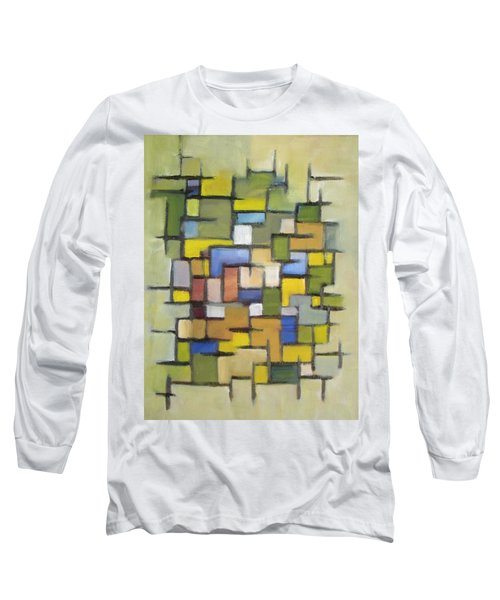 Long Sleeve T-Shirt featuring the painting 2012 Abstract Line Series Xx by Patricia Cleasby