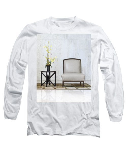 A Chair And A Table With A Plant  Long Sleeve T-Shirt