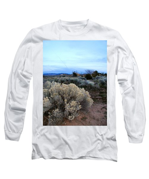 A Desert View After Sunset Long Sleeve T-Shirt by Kathleen Grace