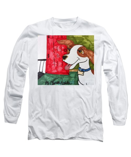 A Dog Is Heading Out The Door. Long Sleeve T-Shirt