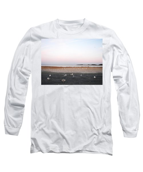 Long Sleeve T-Shirt featuring the photograph A Gathering On Rehoboth Bay by Pamela Hyde Wilson