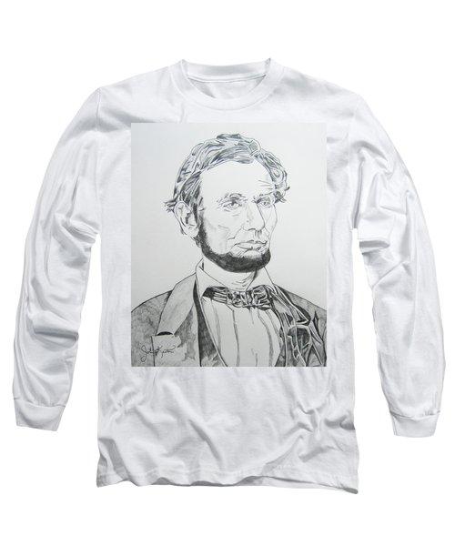 Abraham Lincoln Long Sleeve T-Shirt by John Keaton