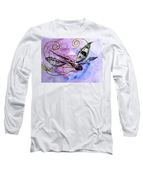 Abstract Dragonfly 6 Long Sleeve T-Shirt