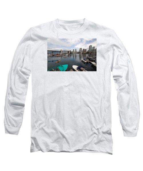 Long Sleeve T-Shirt featuring the photograph Across False Creek by John Schneider