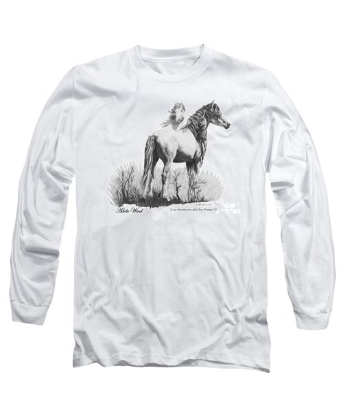 Long Sleeve T-Shirt featuring the drawing Adobe Wind by Marianne NANA Betts