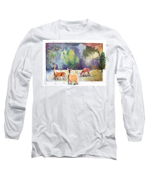 Alert Long Sleeve T-Shirt by Christine Lathrop