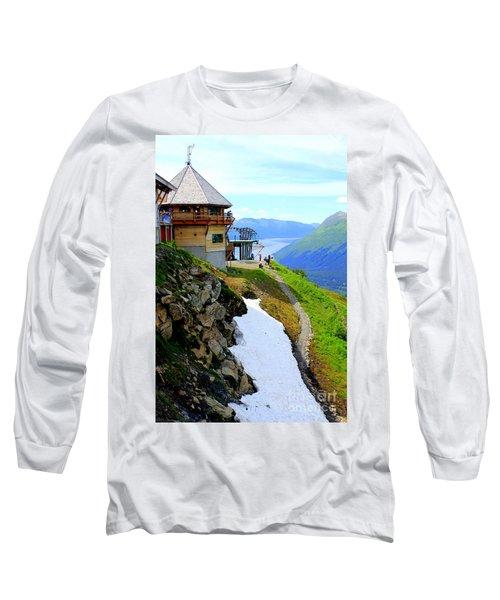 Long Sleeve T-Shirt featuring the photograph Alyeska Ski Resort Alaska by Kathy  White