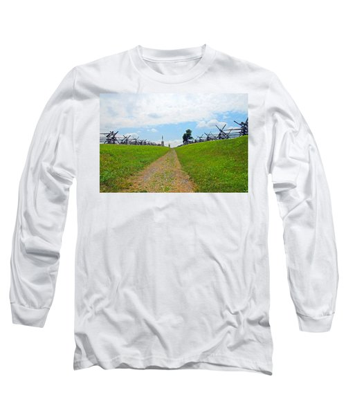 Antietam Battle Of Bloody Lane Long Sleeve T-Shirt by Cindy Manero