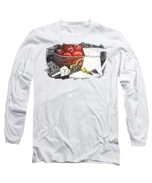 Apple And Rhubarb Pie Long Sleeve T-Shirt