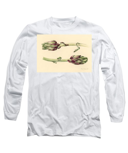 Artichokes Long Sleeve T-Shirt by Alison Cooper