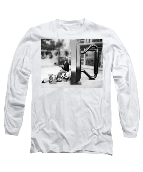 Atown Street Musician Long Sleeve T-Shirt
