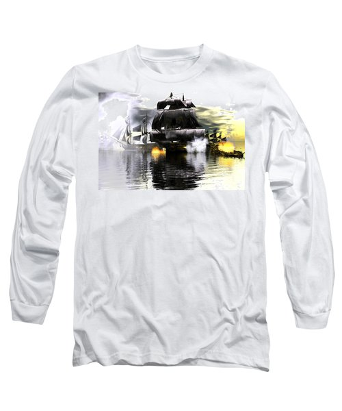 Long Sleeve T-Shirt featuring the digital art Battle Smoke by Claude McCoy