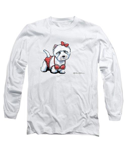 Beach Babe Westie Long Sleeve T-Shirt