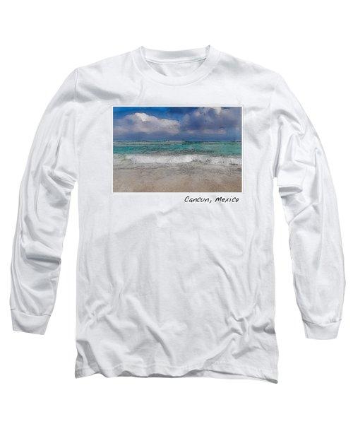 Beach Background Long Sleeve T-Shirt