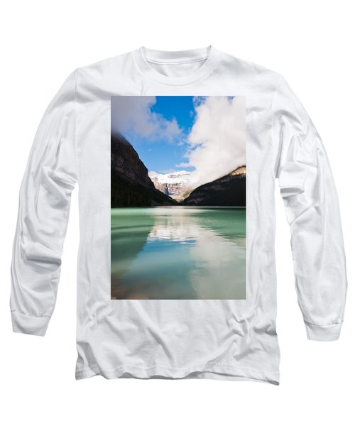 Long Sleeve T-Shirt featuring the photograph Beautiful Lake Louise by Cheryl Baxter