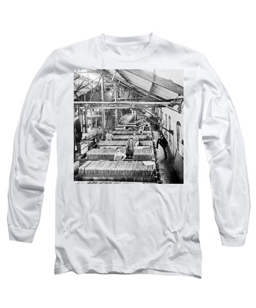 Beet Sugar Factory In Greeley Colorado - C 1908 Long Sleeve T-Shirt