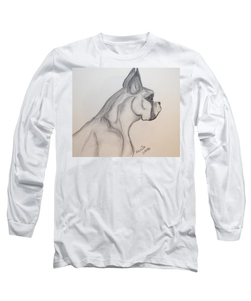 Big Boxer Long Sleeve T-Shirt by Maria Urso