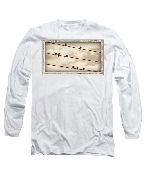Birds On Wires Long Sleeve T-Shirt