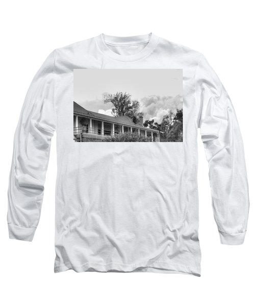 Long Sleeve T-Shirt featuring the photograph Black And White Delaware Casino by Michael Frank Jr