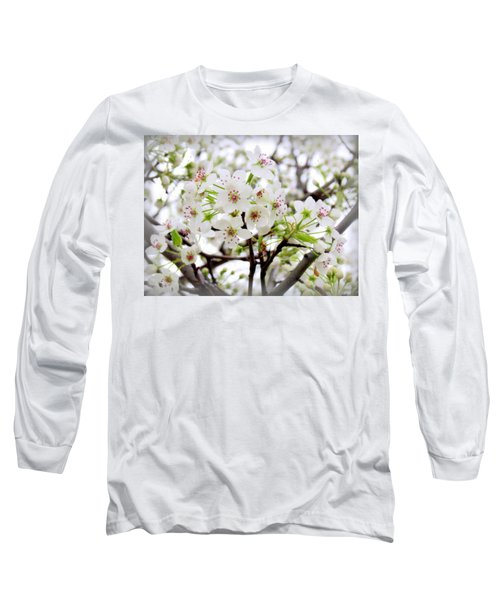 Long Sleeve T-Shirt featuring the photograph Blooming Ornamental Tree by Kay Novy