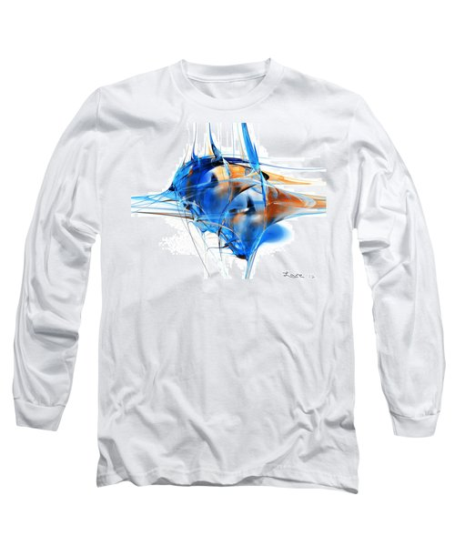 Blue Abstraction Long Sleeve T-Shirt