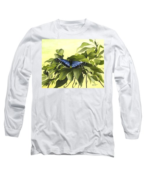 Blue Butterfly Of Branson Long Sleeve T-Shirt